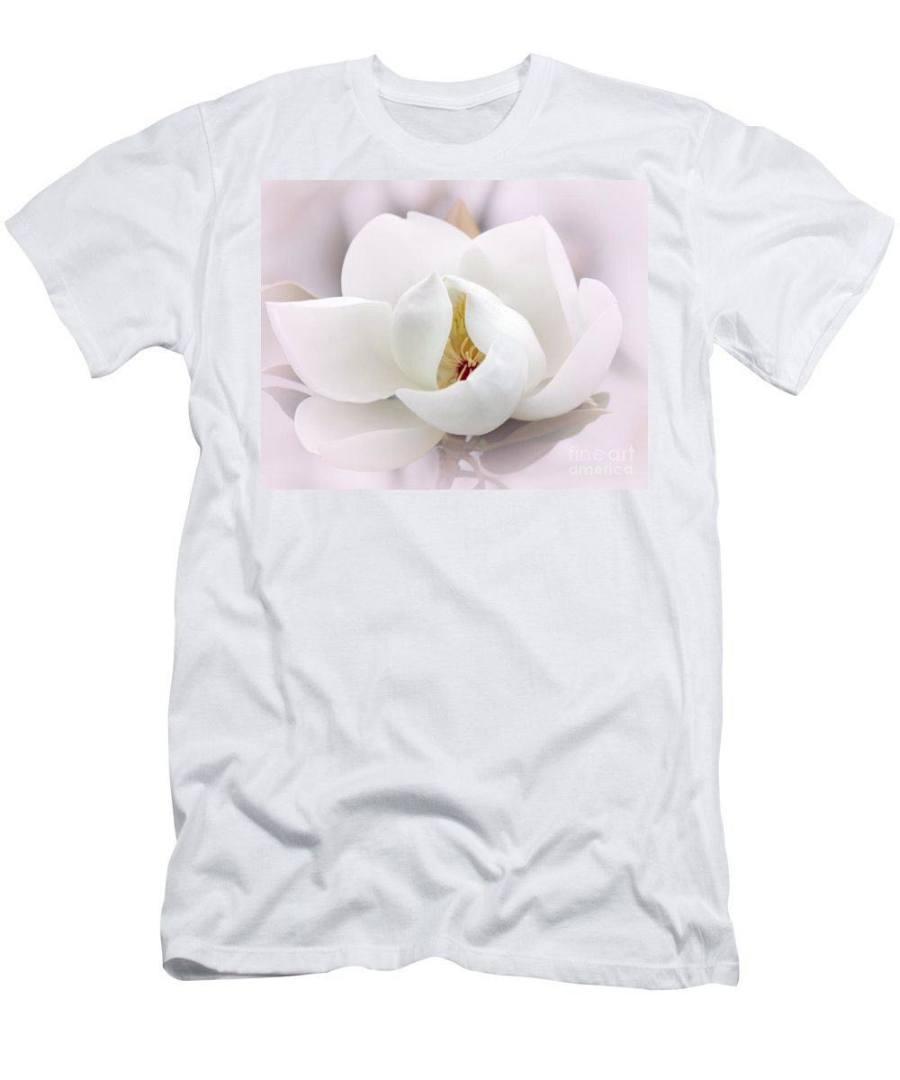 Macro Men's T-Shirt (Athletic Fit) featuring the photograph Beautiful Magnolia Bloom by Sabrina L Ryan