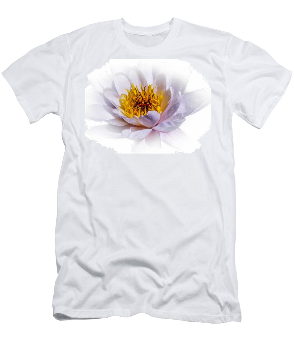 Waterlily Men's T-Shirt (Athletic Fit) featuring the photograph Beauty Lies Within by Sherman Perry
