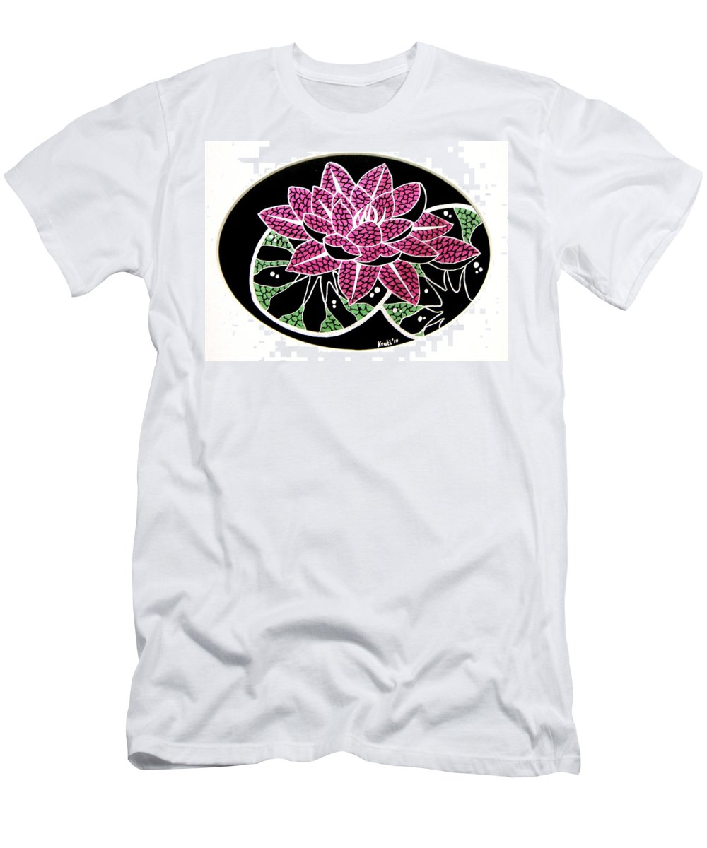 Lotus Men's T-Shirt (Athletic Fit) featuring the painting Beauty Of The Spirit I by Kruti Shah