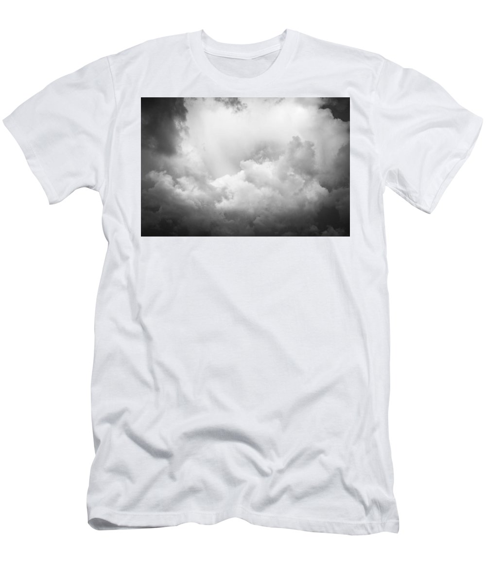 Clouds Men's T-Shirt (Athletic Fit) featuring the photograph Before The Storm Clouds Stratocumulus Bw 8 by Rich Franco