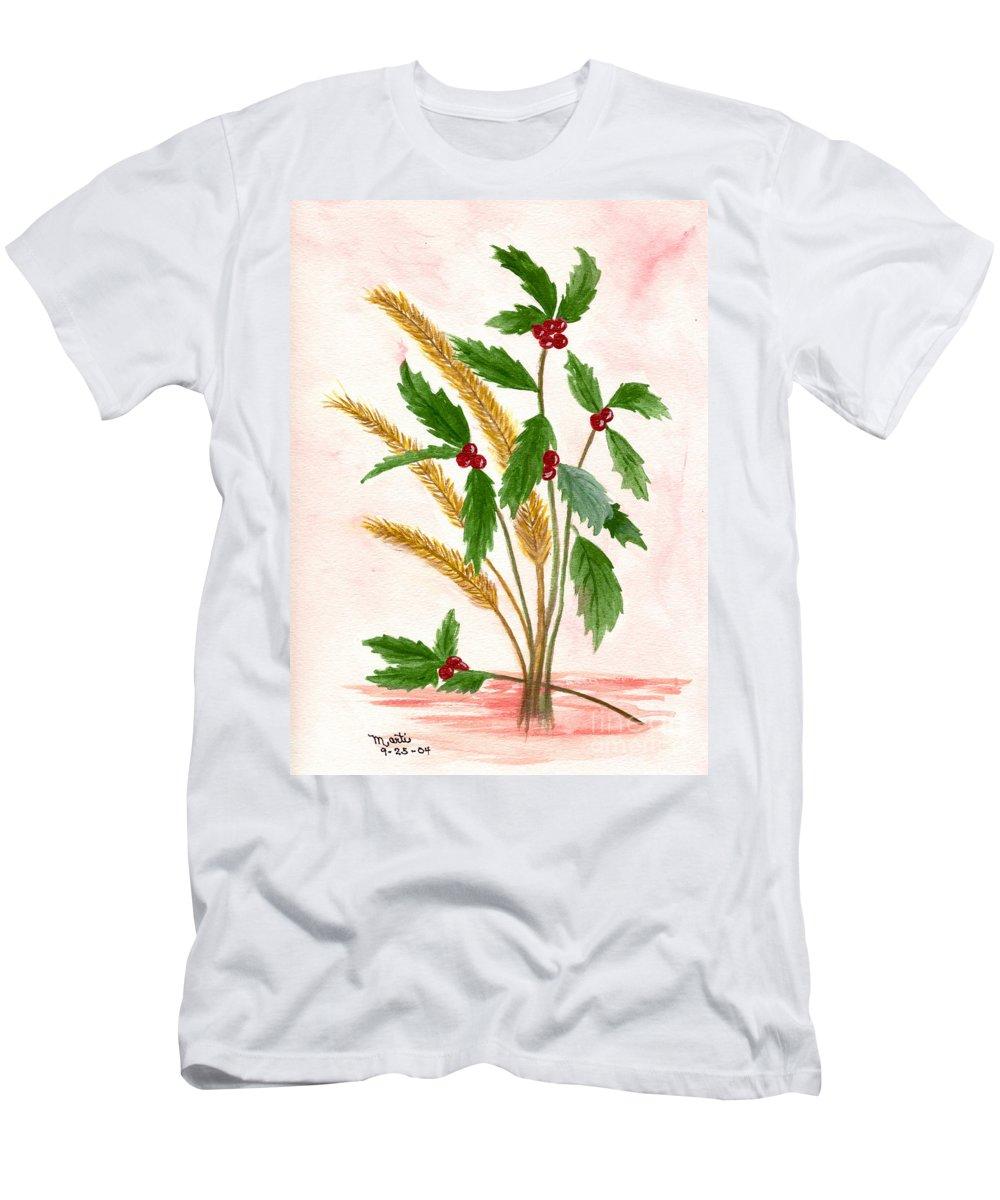 Plant Men's T-Shirt (Athletic Fit) featuring the photograph Berry by Flamingo Graphix John Ellis