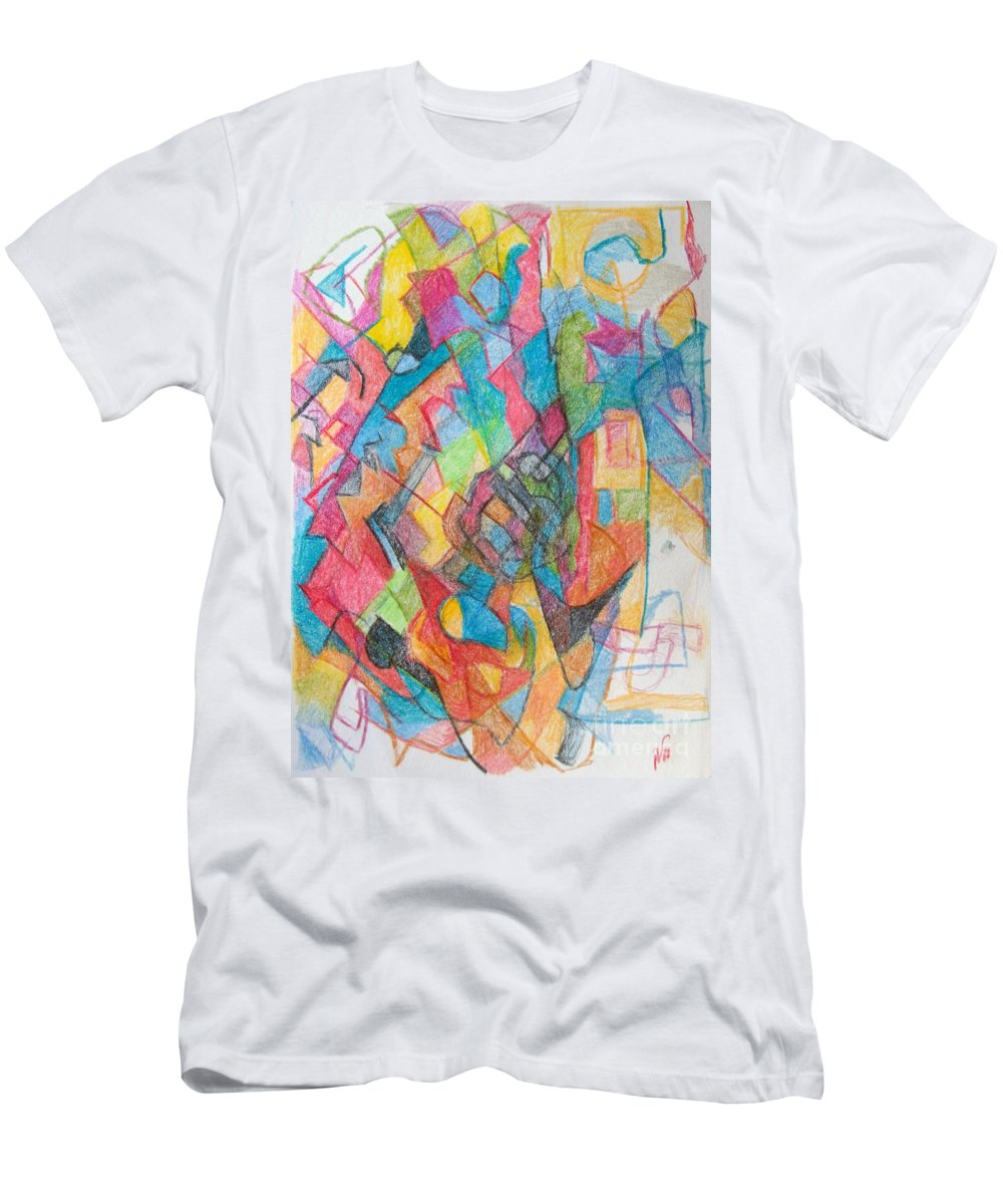 Torah Men's T-Shirt (Athletic Fit) featuring the drawing Beyond Understanding 3 by David Baruch Wolk