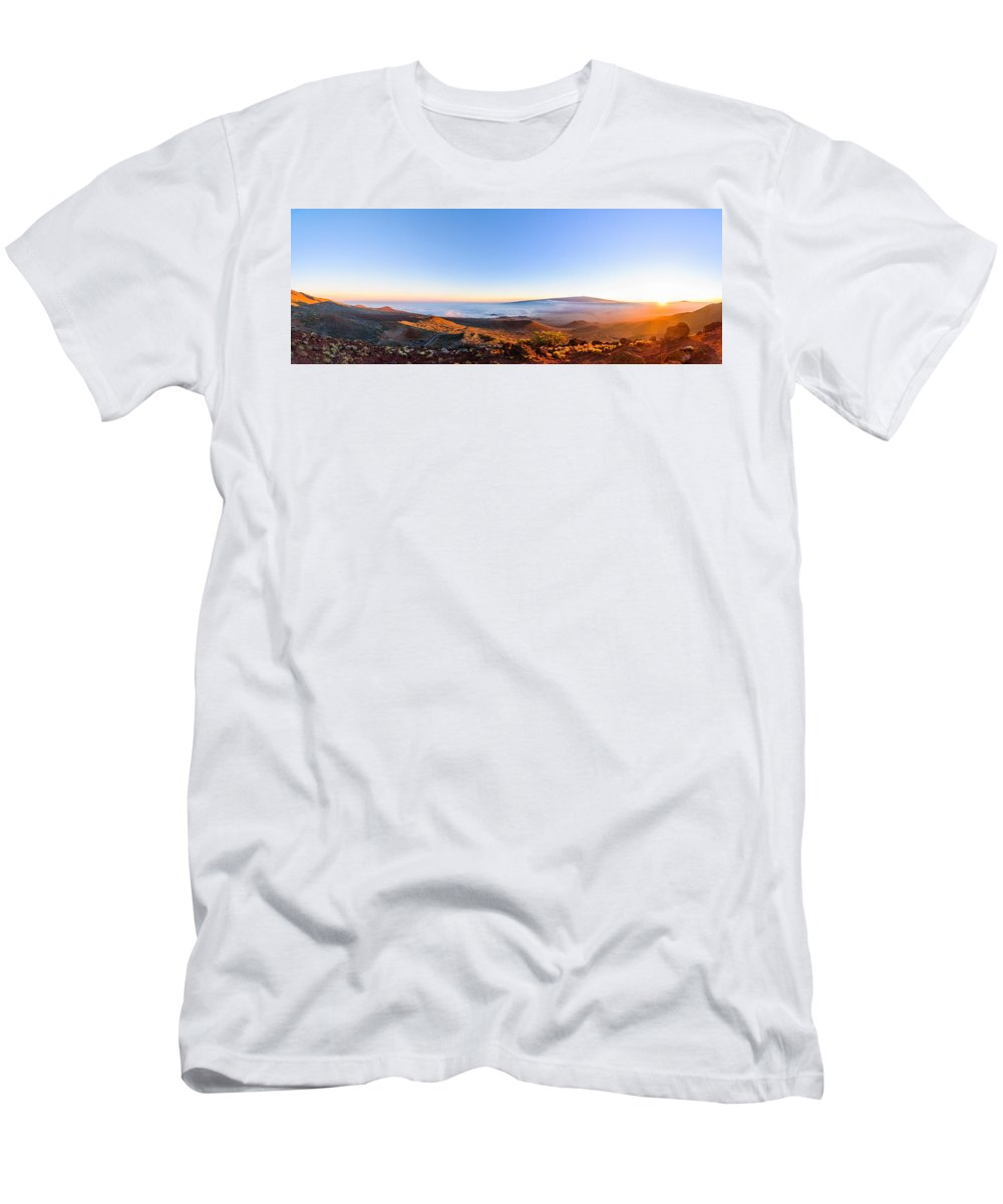 Big Island Men's T-Shirt (Athletic Fit) featuring the photograph Big Island Sunset 2 by Jason Chu