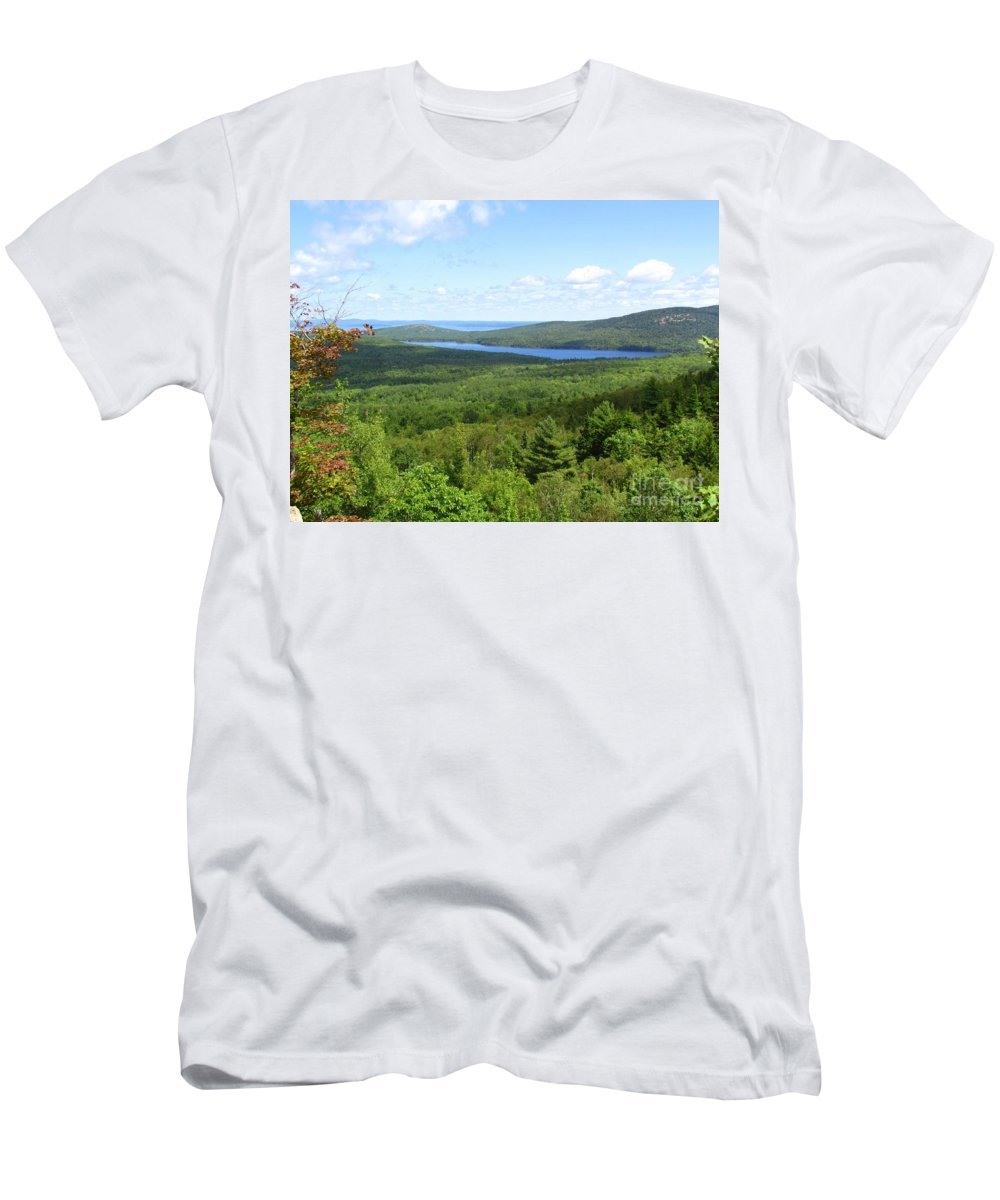 Water Men's T-Shirt (Athletic Fit) featuring the photograph Bird's Eye View Of Eagle Lake by Elizabeth Dow