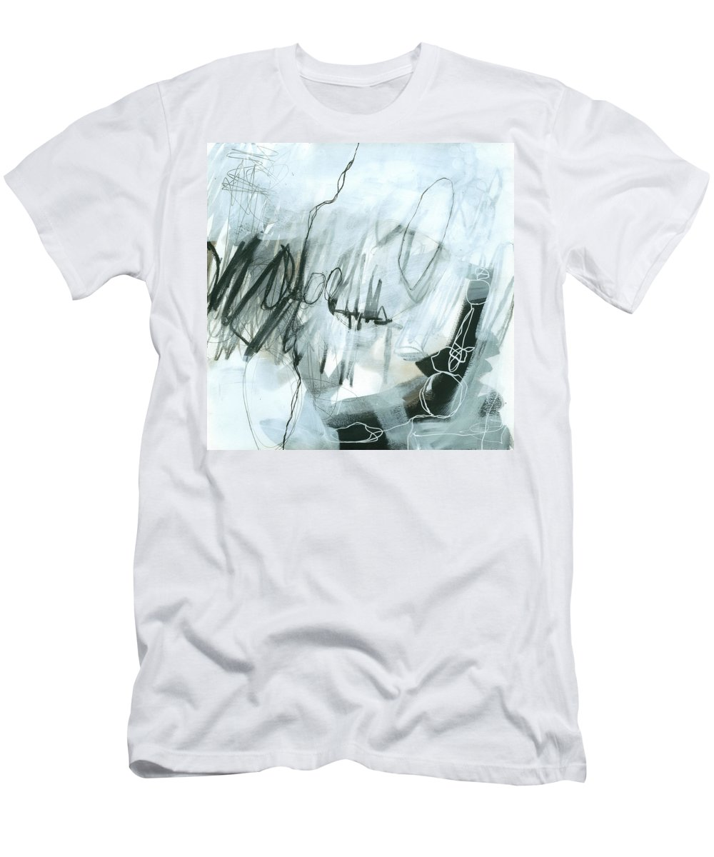 Jane Davies Men's T-Shirt (Athletic Fit) featuring the painting Black And White #5 by Jane Davies