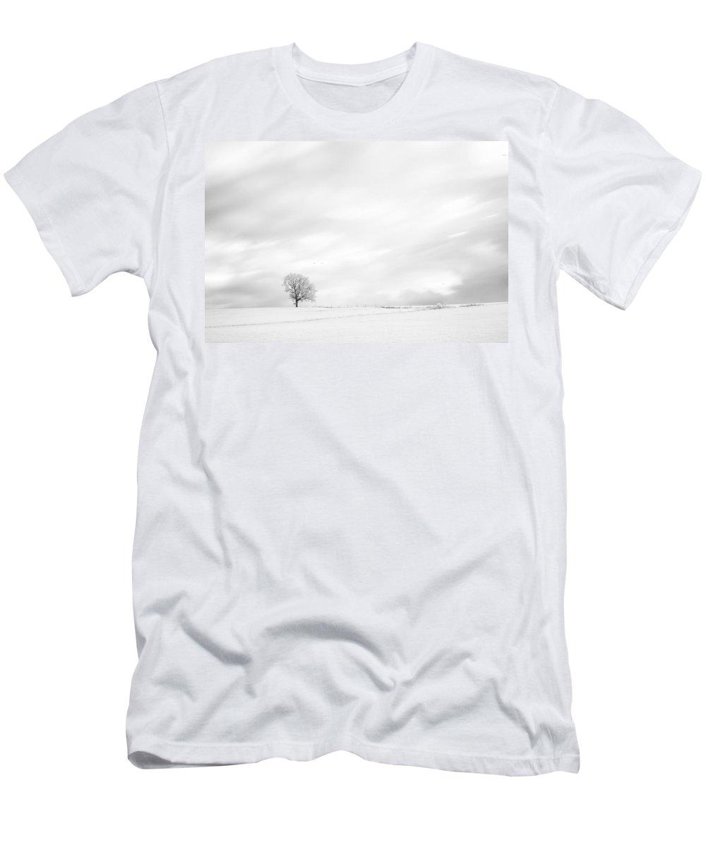 Autumn Men's T-Shirt (Athletic Fit) featuring the photograph Black And White Tree by U Schade