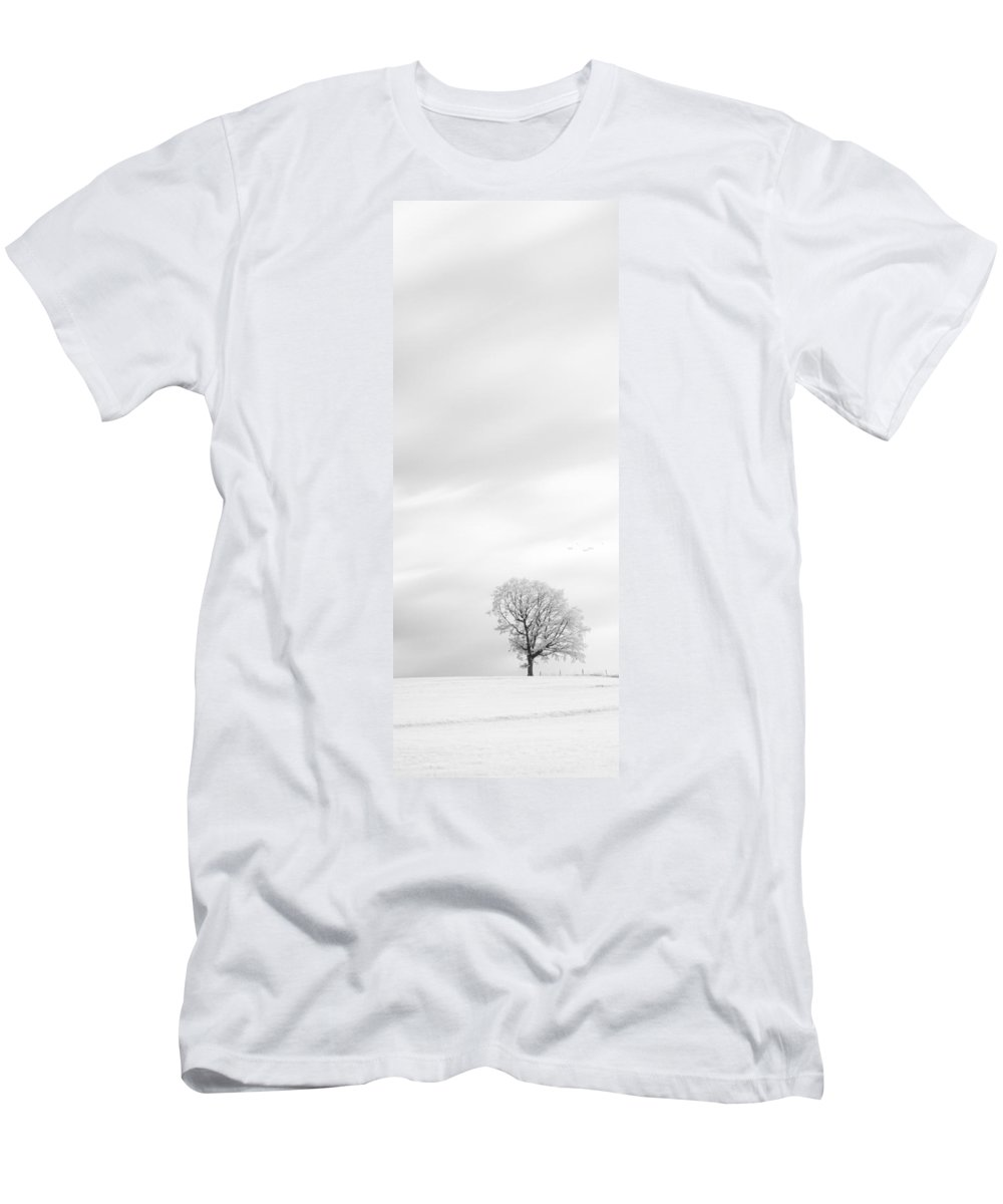 Autumn Men's T-Shirt (Athletic Fit) featuring the photograph Black And White Triptych Tree 13-0747 Set 1 Of 3 by U Schade