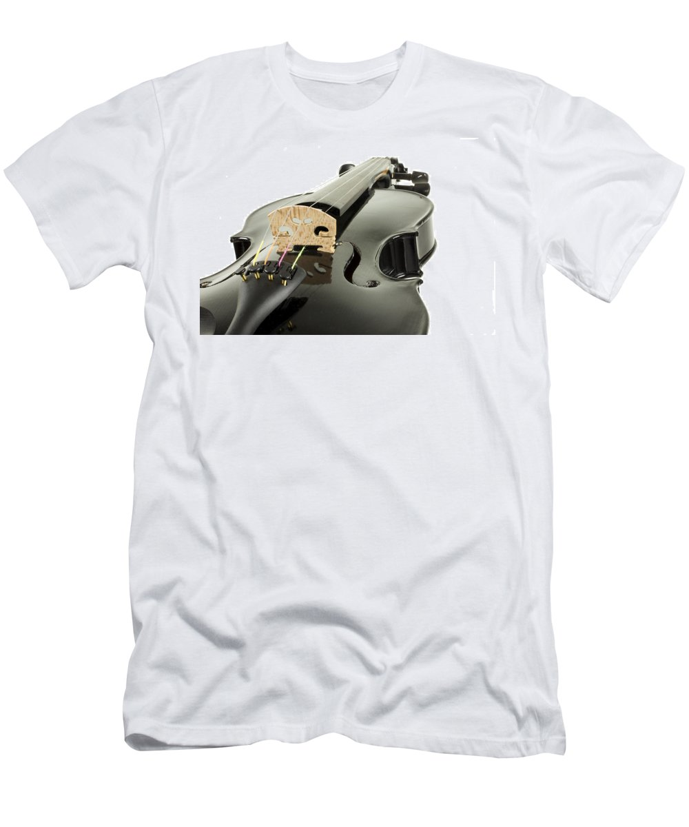 Artistic Men's T-Shirt (Athletic Fit) featuring the photograph Black Violin by Gregory Dean