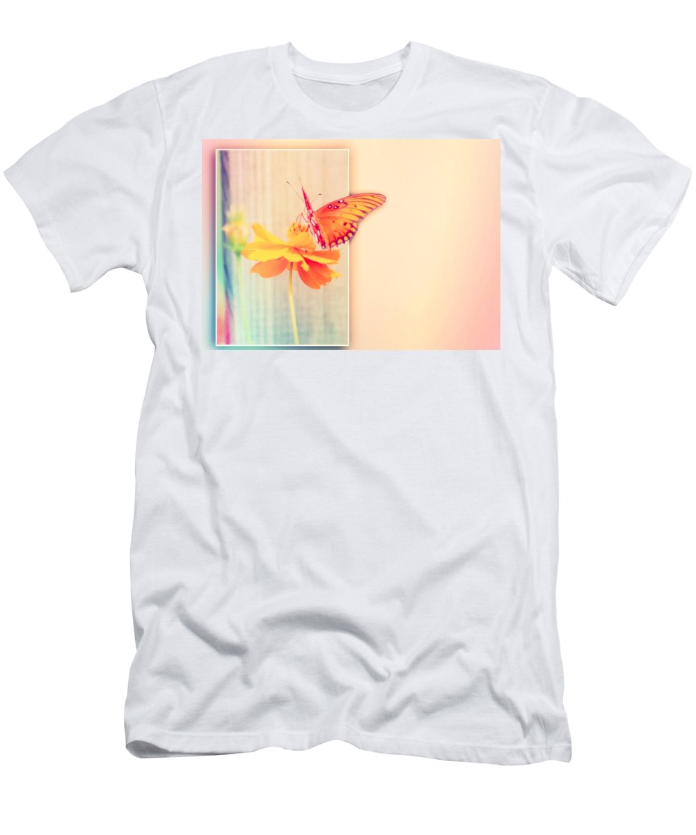 Greeting Men's T-Shirt (Athletic Fit) featuring the photograph Blank Greeting Card by Leticia Latocki