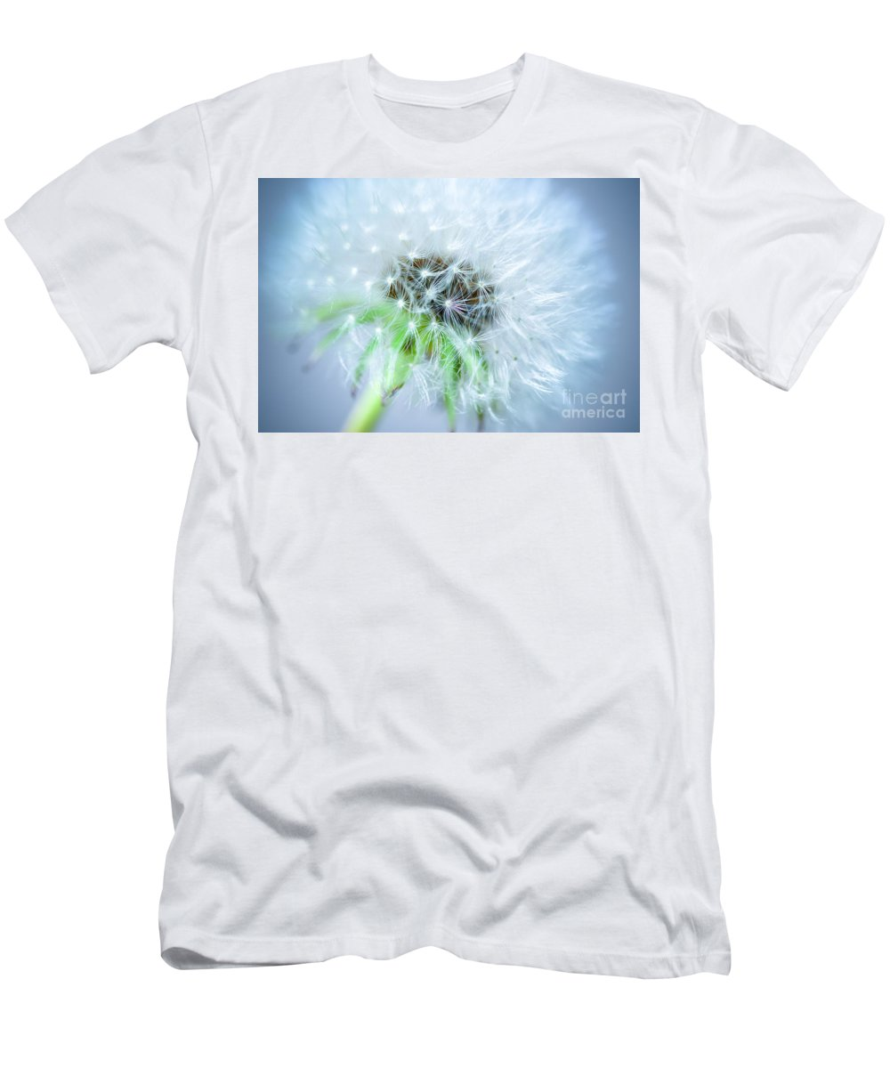 Blossom Men's T-Shirt (Athletic Fit) featuring the photograph Blowball - Blue by Hannes Cmarits