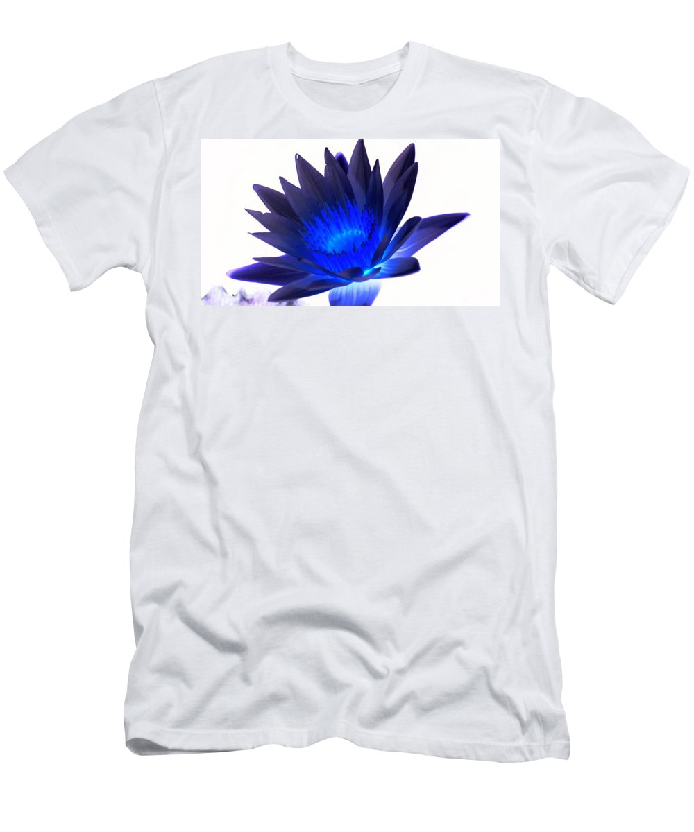 Blue Men's T-Shirt (Athletic Fit) featuring the photograph Blue Passion by Rob Luzier