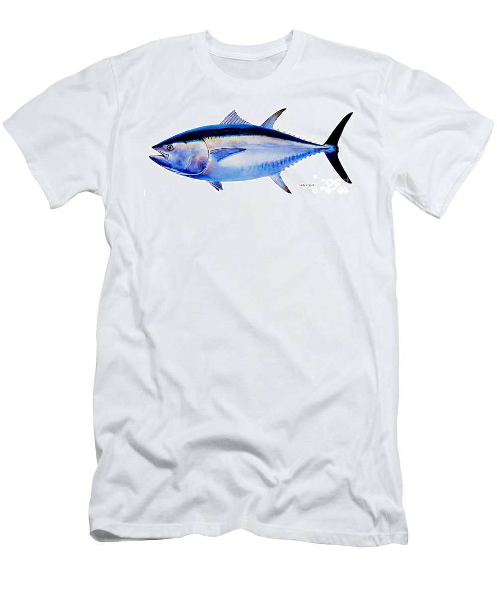 Bluefin Men's T-Shirt (Athletic Fit) featuring the painting Bluefin Tuna by Carey Chen