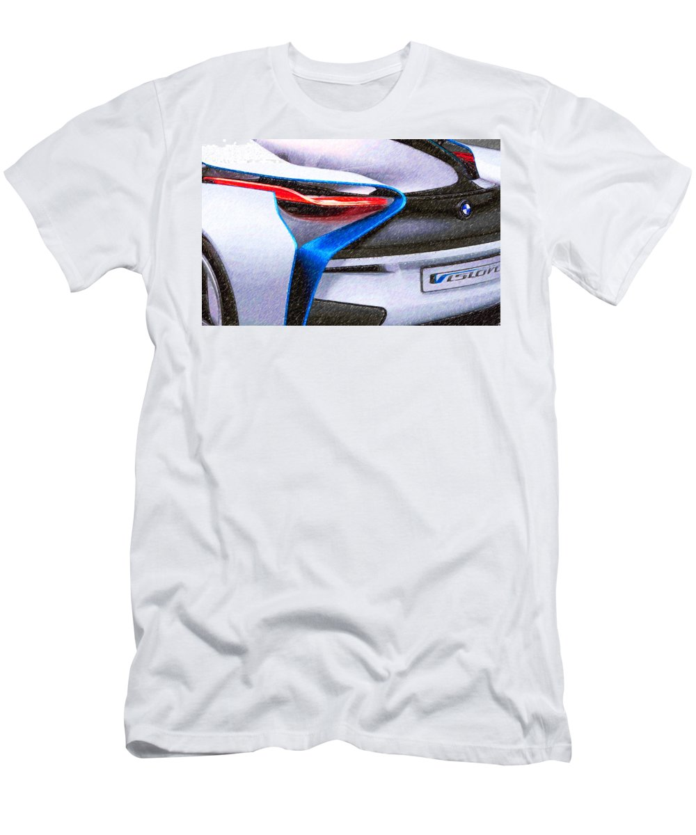 New Men's T-Shirt (Athletic Fit) featuring the painting Bmw 22 by Jeelan Clark