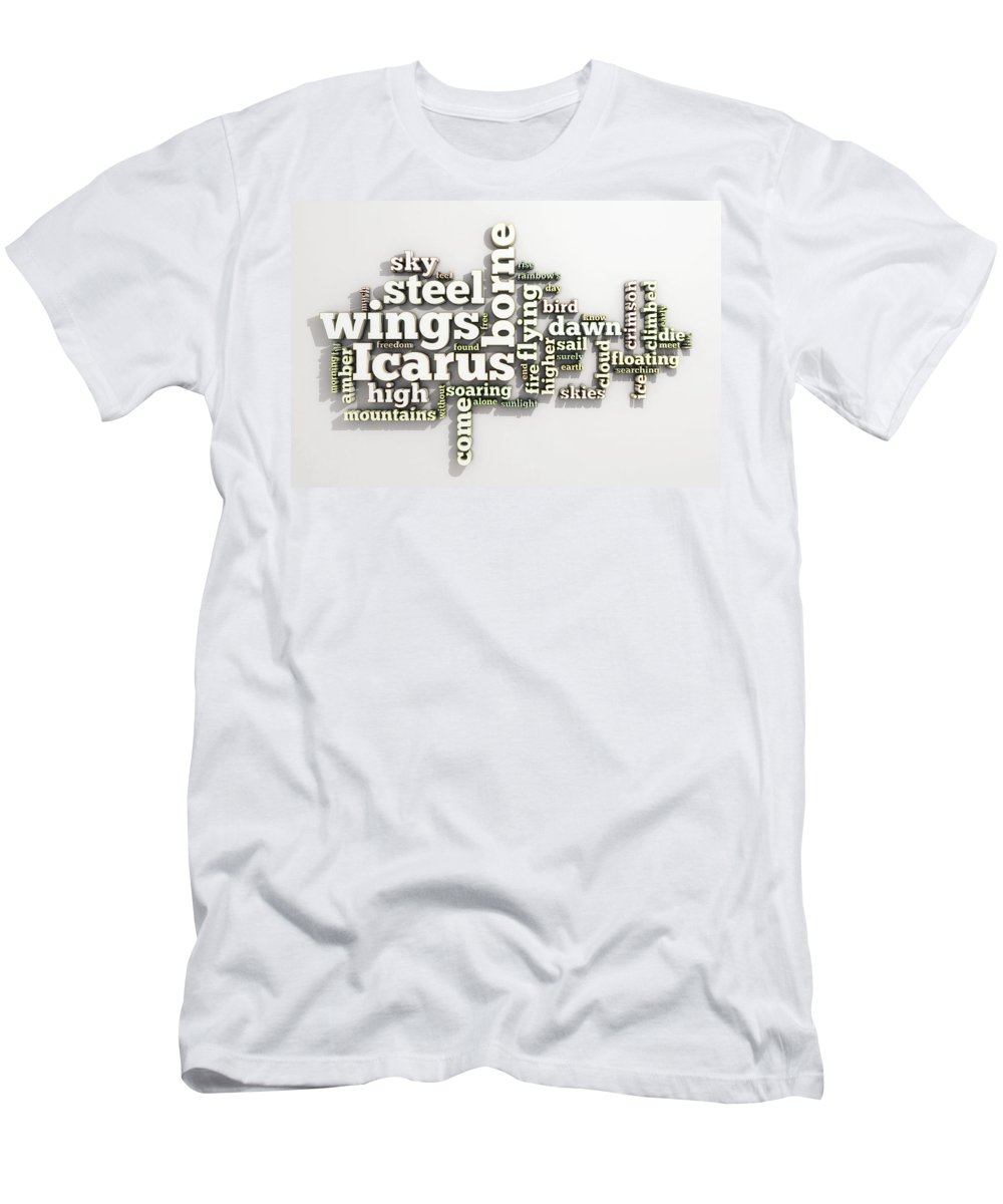 Borne Men's T-Shirt (Athletic Fit) featuring the digital art Borne On Wings Of Steel by Scott Norris