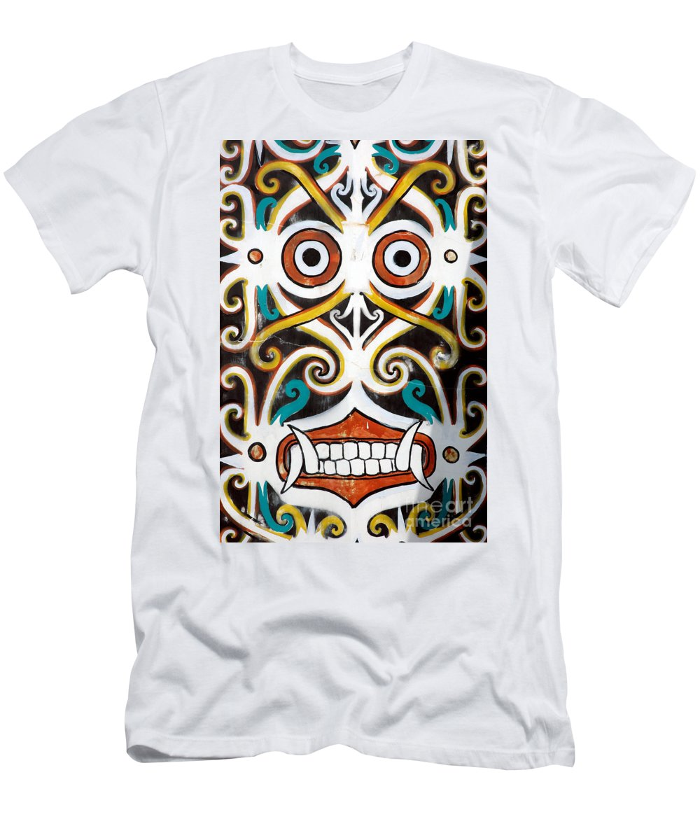 Dayak Men's T-Shirt (Athletic Fit) featuring the photograph Borneo Shield Ornaments by Antoni Halim