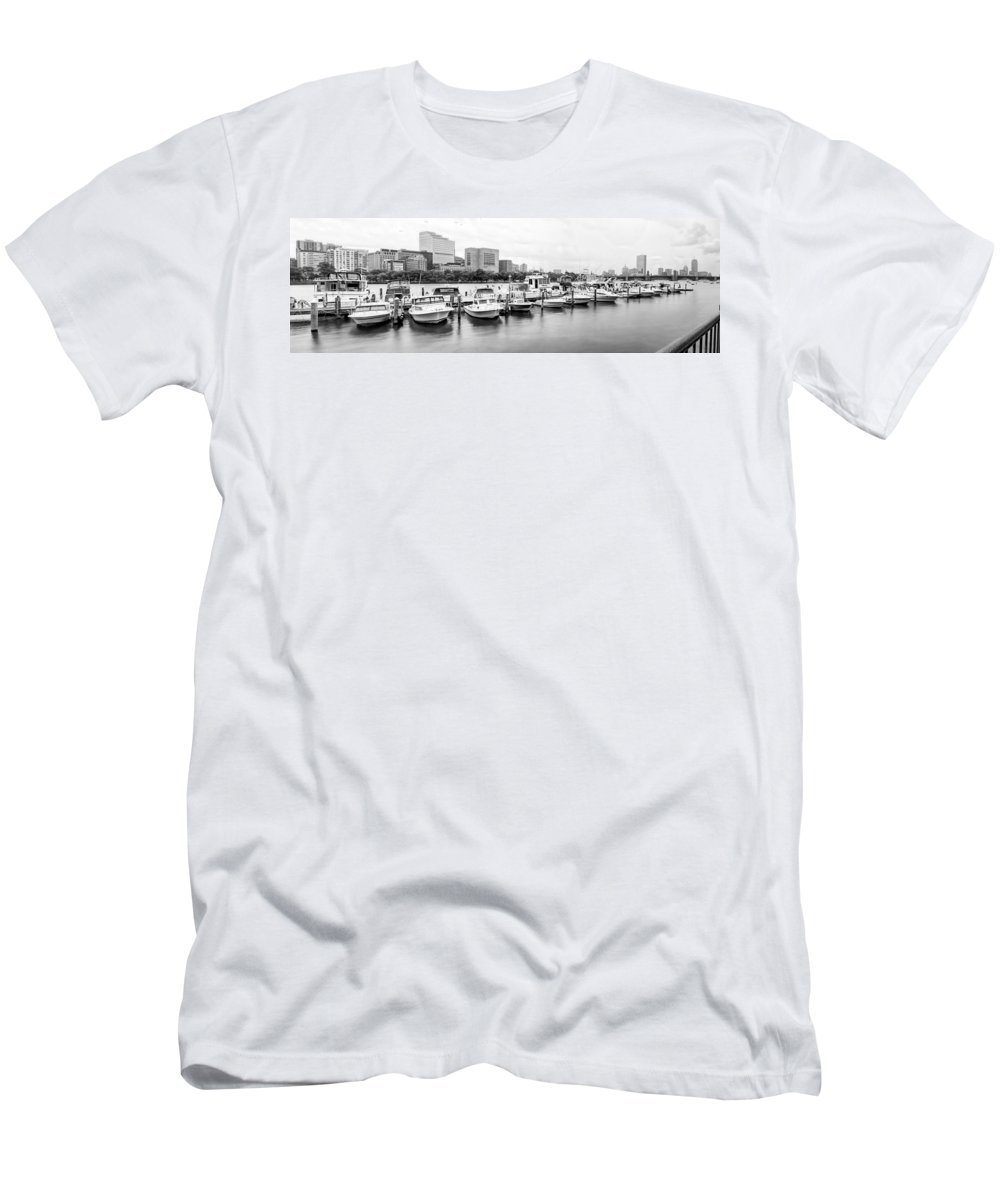 Boston Men's T-Shirt (Athletic Fit) featuring the photograph Boston Skyline by Natalie Rotman Cote