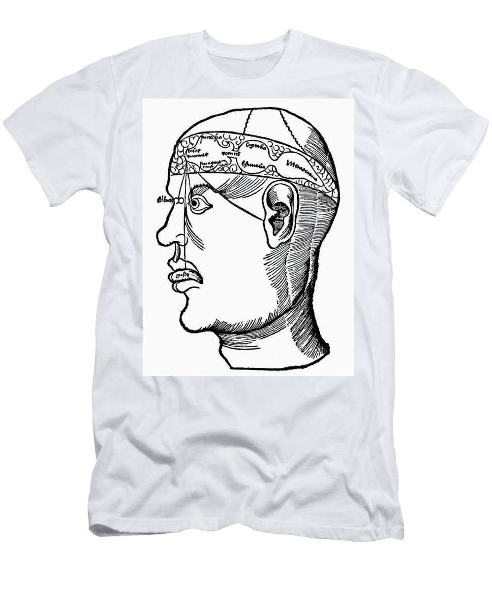 1503 Men's T-Shirt (Athletic Fit) featuring the photograph Brain Diagram, 1503 by Granger