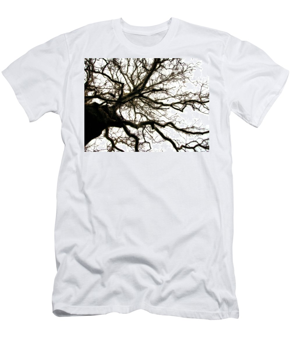 Branches Men's T-Shirt (Athletic Fit) featuring the photograph Branches by Michelle Calkins