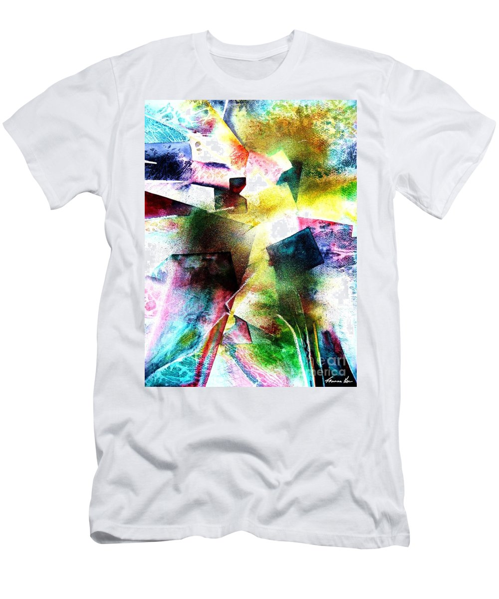 Abstract Men's T-Shirt (Athletic Fit) featuring the painting Breakthrough by Frances Ku
