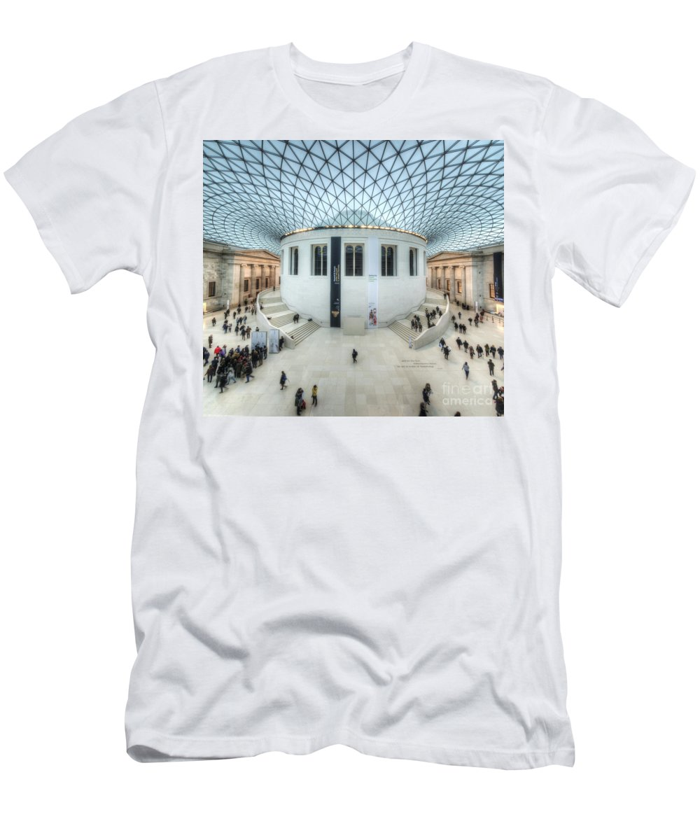 Hdr Men's T-Shirt (Athletic Fit) featuring the photograph British Museum by Yhun Suarez