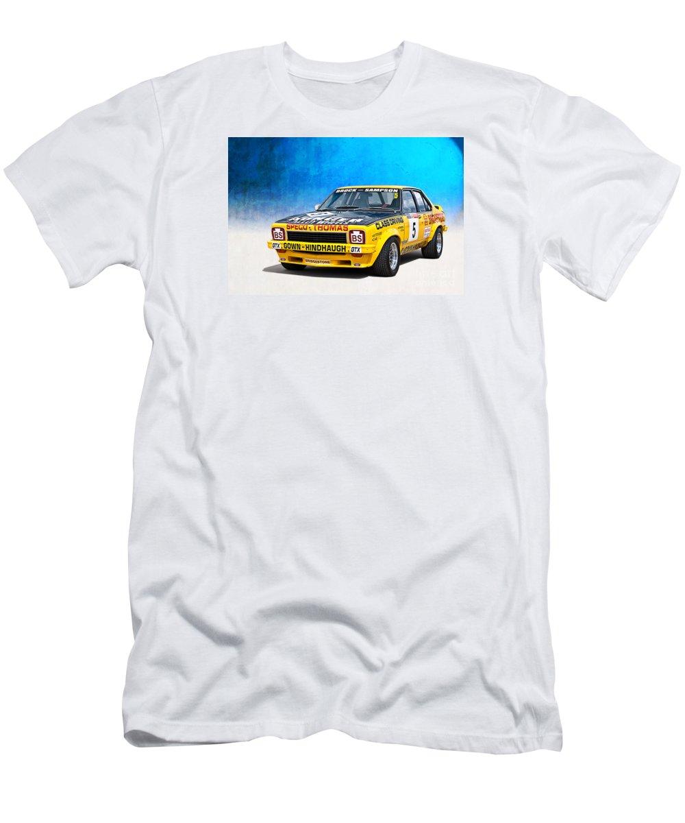 Peter Brock Men's T-Shirt (Athletic Fit) featuring the photograph Brock Sampson L34 Torana by Stuart Row