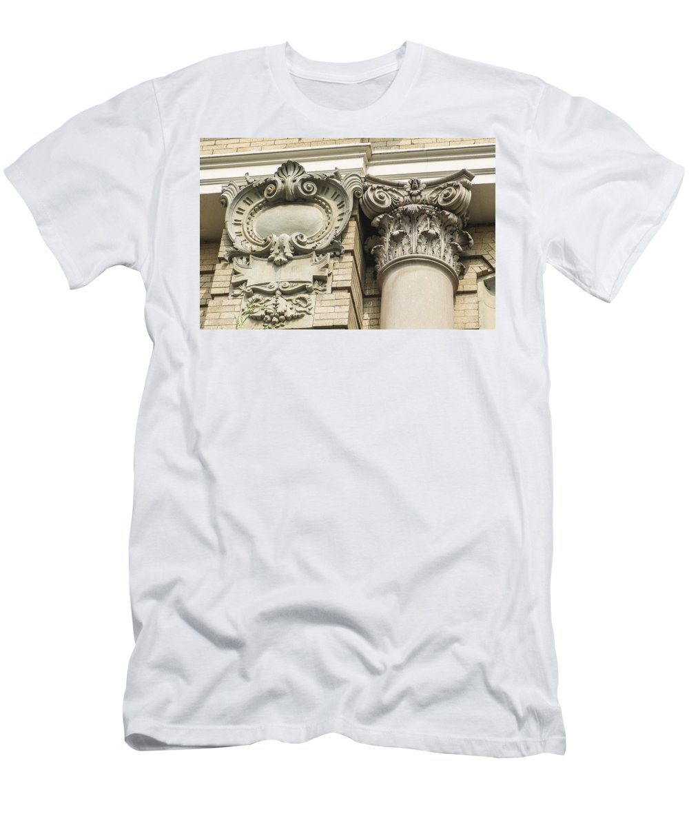 Architectural Men's T-Shirt (Athletic Fit) featuring the photograph Building Trim by Eric Swan