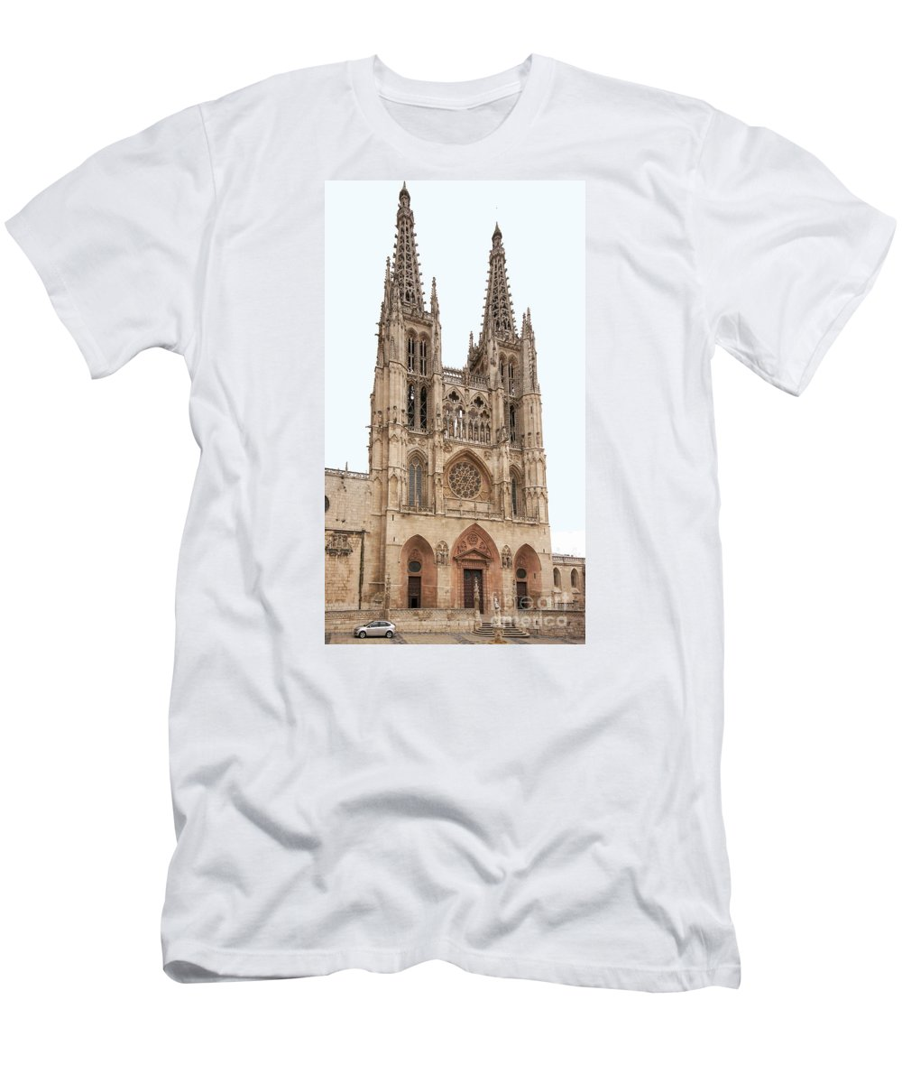 Europe Men's T-Shirt (Athletic Fit) featuring the photograph Burgos Cathedral Spain by Rudi Prott