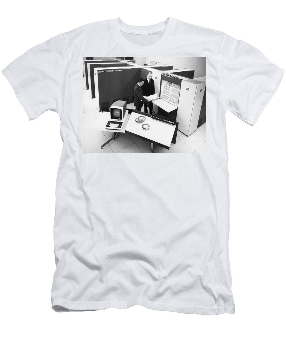 1960s Men's T-Shirt (Athletic Fit) featuring the photograph Burroughs 6500 Computer System by Underwood Archives