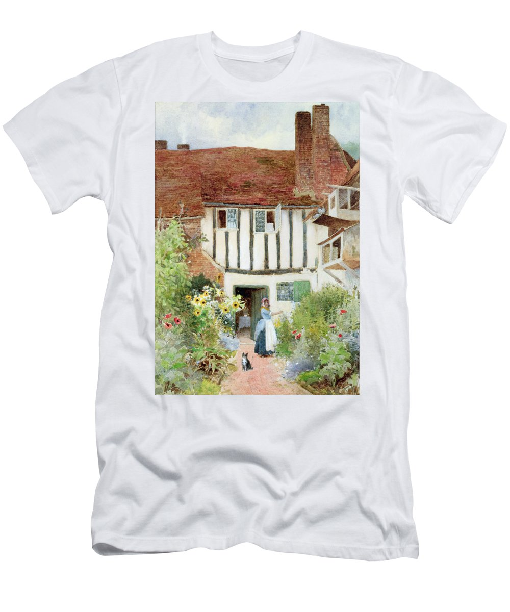 Butterfly T-Shirt featuring the painting Butterflies by Arthur Claude Strachan