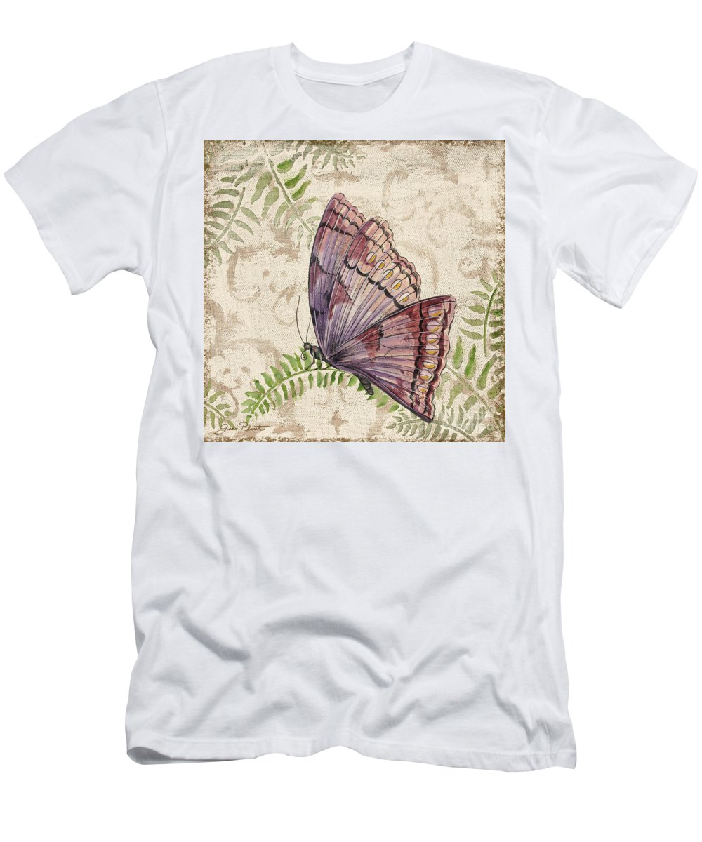 Painting Men's T-Shirt (Athletic Fit) featuring the painting Butterfly Daydreams-b by Jean Plout