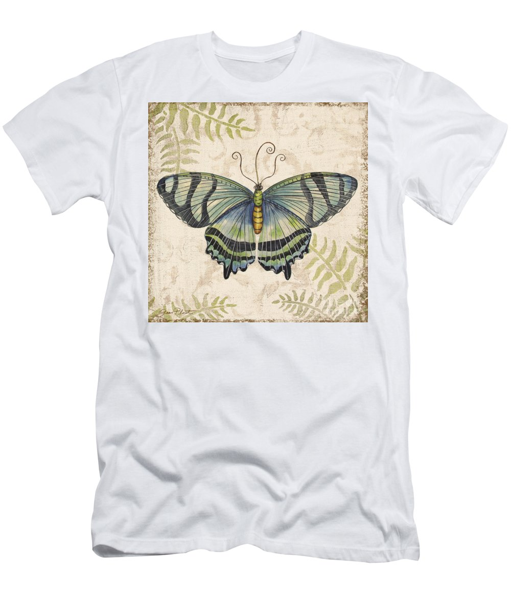 Painting Men's T-Shirt (Athletic Fit) featuring the painting Butterfly Daydreams-d by Jean Plout
