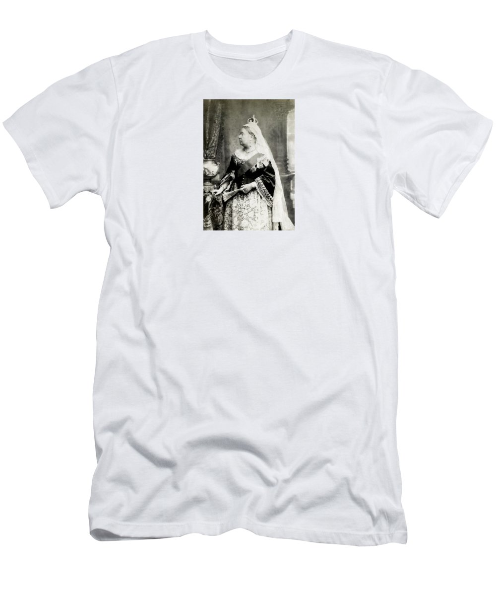 Vintage Men's T-Shirt (Athletic Fit) featuring the photograph C. 1880 Her Majesty Queen Victoria by Historic Image