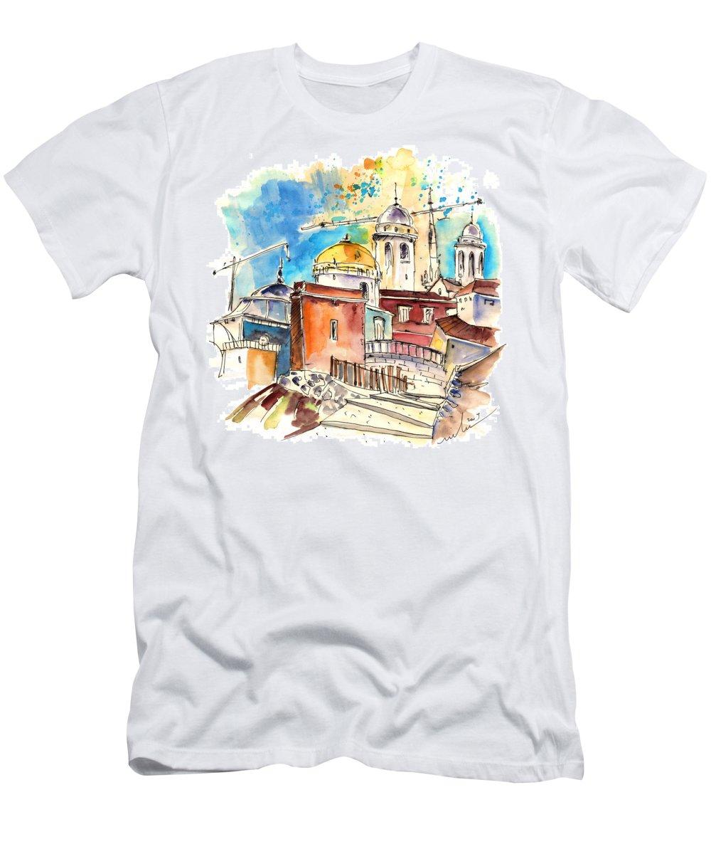 Travel Men's T-Shirt (Athletic Fit) featuring the painting Cadiz Spain 02 by Miki De Goodaboom
