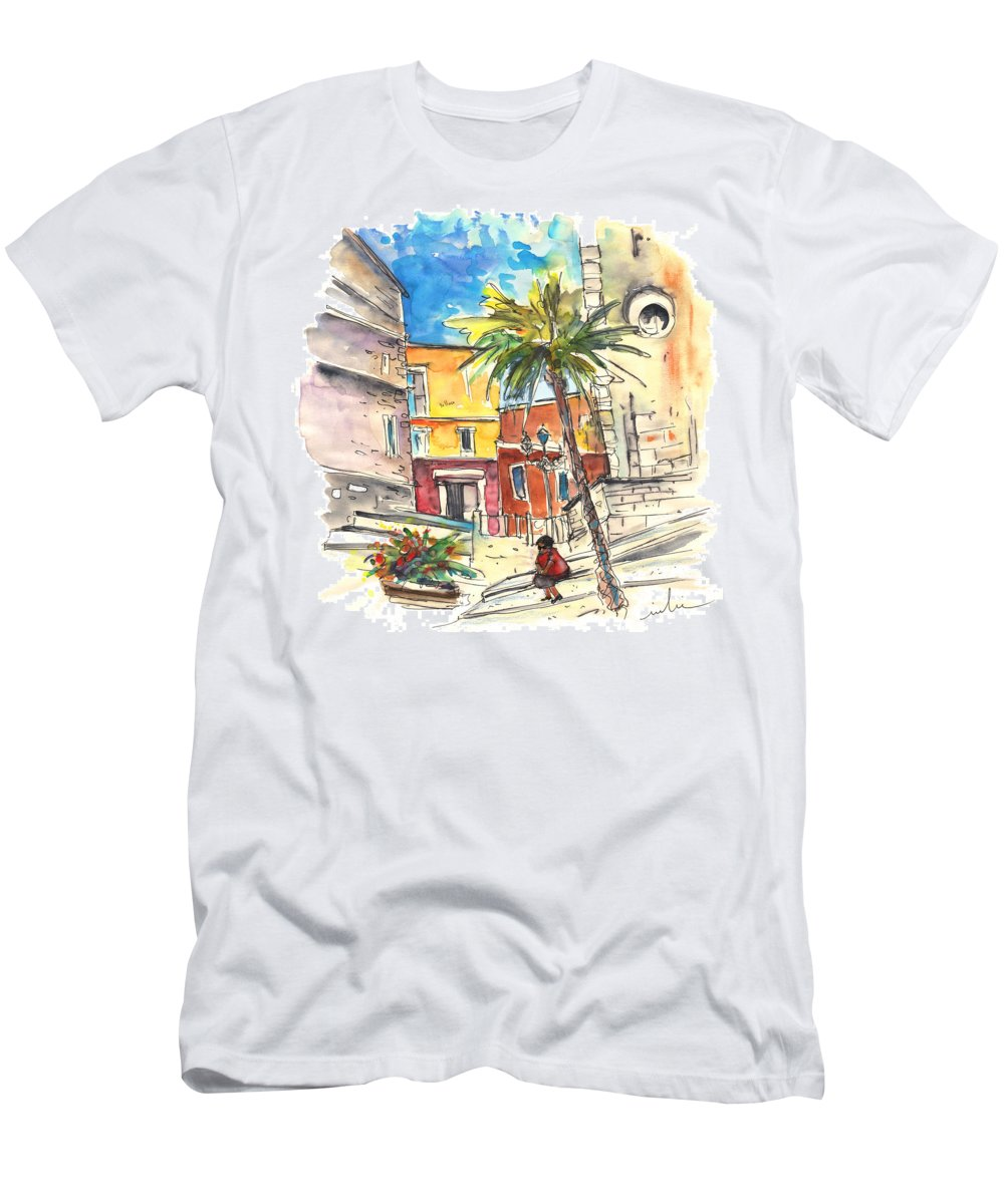 Travel Men's T-Shirt (Athletic Fit) featuring the painting Cadiz Spain 05 by Miki De Goodaboom
