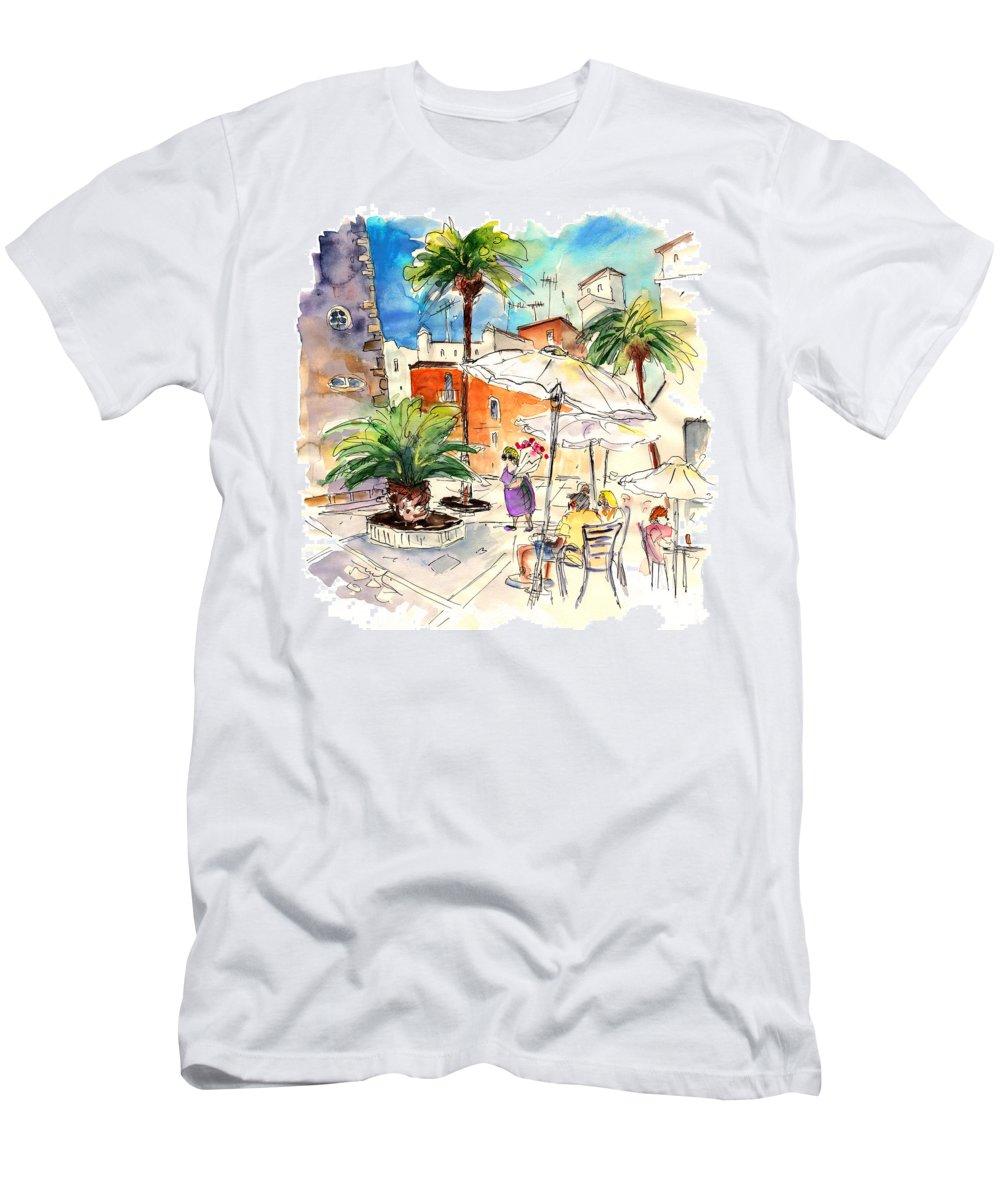 Travel Men's T-Shirt (Athletic Fit) featuring the painting Cadiz Spain 13 by Miki De Goodaboom