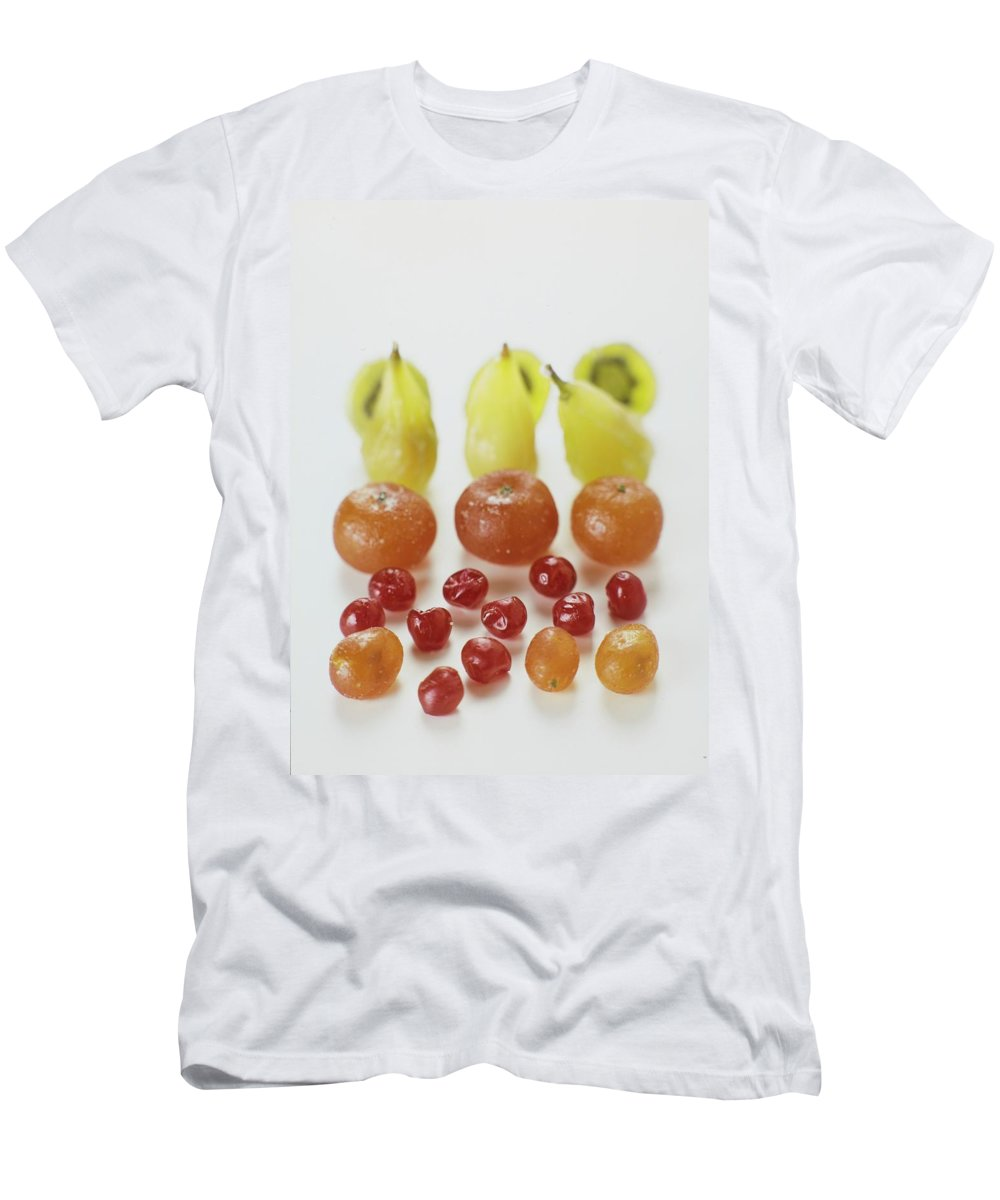 Cooking Men's T-Shirt (Athletic Fit) featuring the photograph Candied Fruit by Romulo Yanes