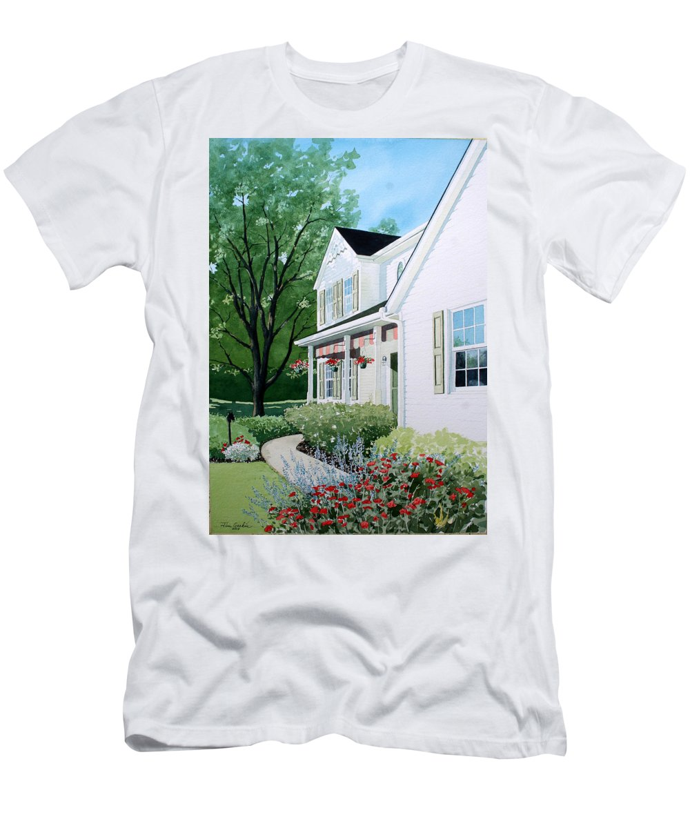 House Men's T-Shirt (Athletic Fit) featuring the painting Carols Place by Jim Gerkin