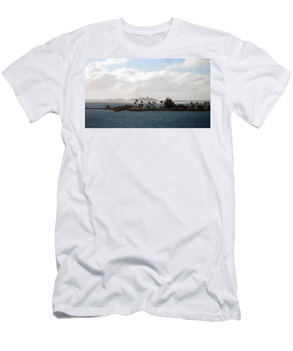 Sea Men's T-Shirt (Athletic Fit) featuring the photograph Carribean Dream by Judy Hall-Folde