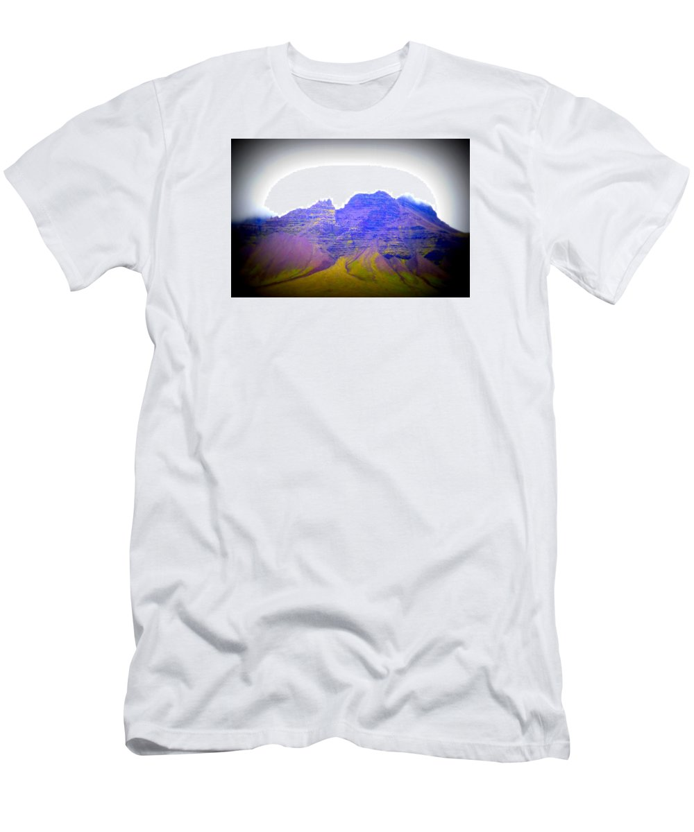 Mountain Men's T-Shirt (Athletic Fit) featuring the photograph I'm Old, So Carry Me Up To The Top And Leave Me There by Hilde Widerberg