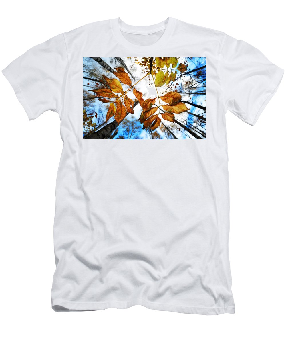 Autumn Men's T-Shirt (Athletic Fit) featuring the photograph Celebrating Life by Jenny Rainbow