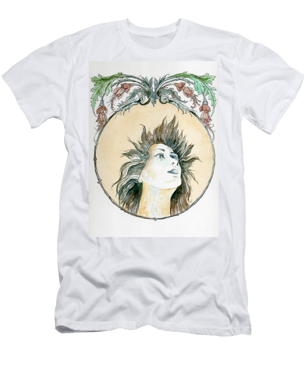Watercolor Men's T-Shirt (Athletic Fit) featuring the painting Chanson D'amour by Brenda Owen