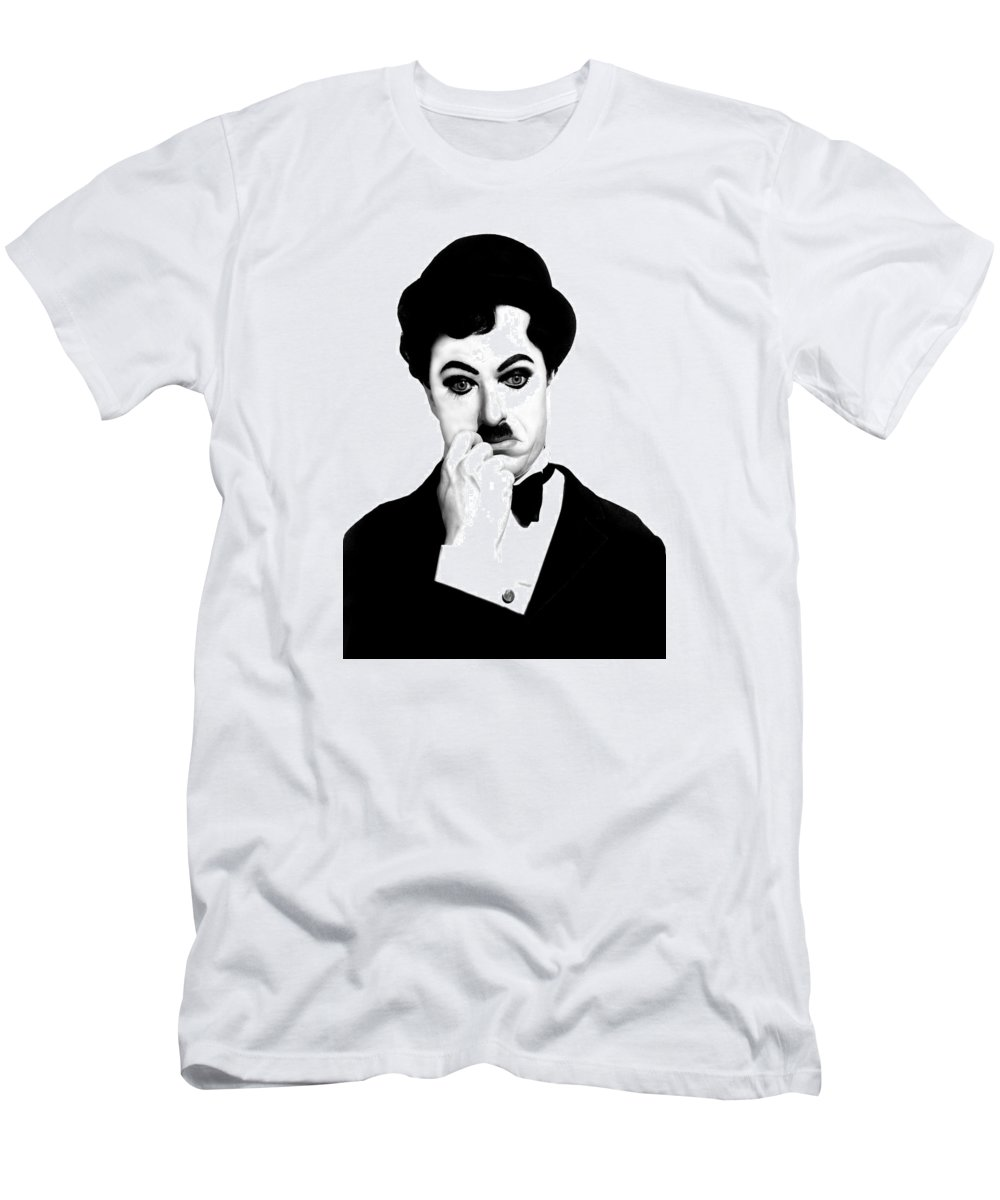 Charles Men's T-Shirt (Athletic Fit) featuring the digital art Charles Chaplin by Gina Dsgn