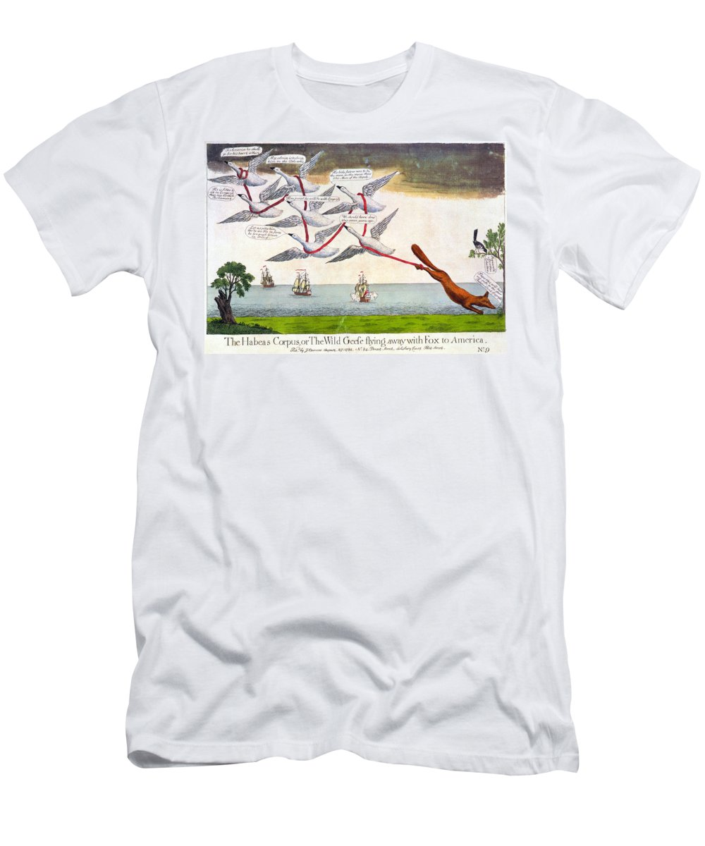 1782 Men's T-Shirt (Athletic Fit) featuring the photograph Charles Fox: Cartoon, 1782 by Granger