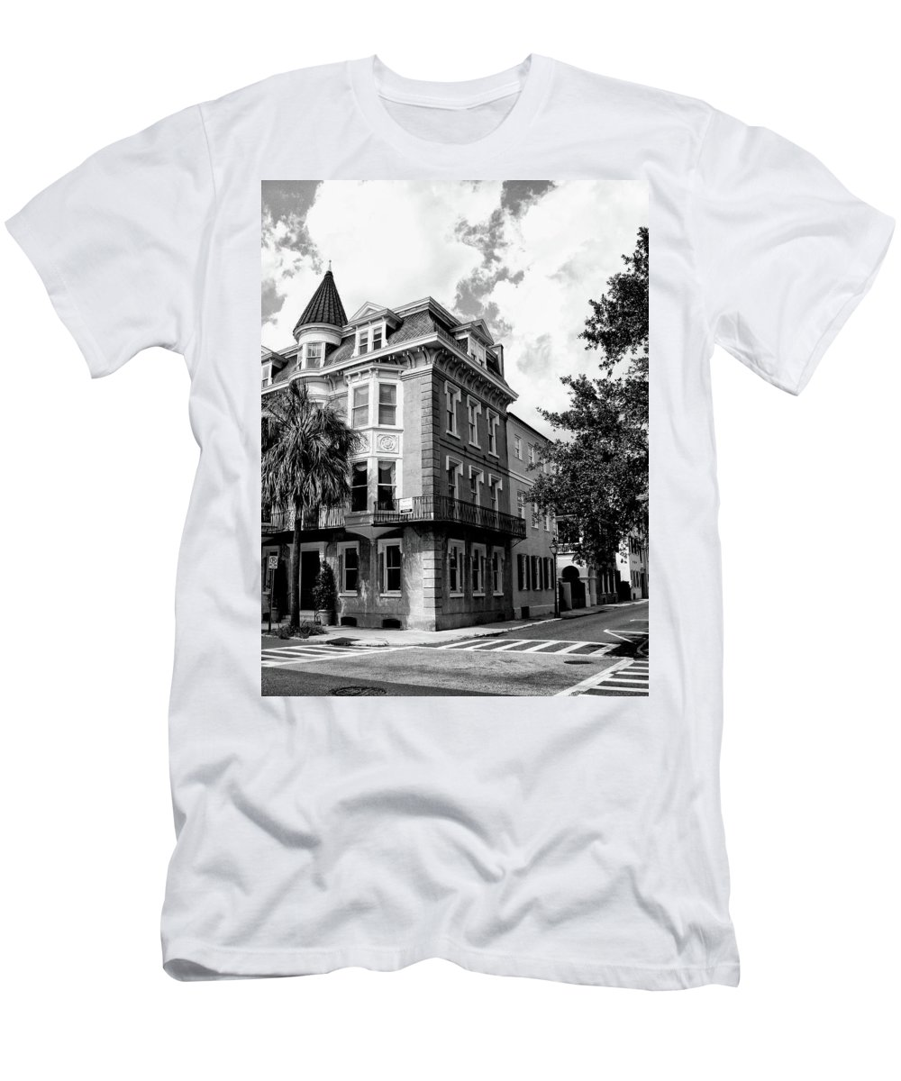 Charleston Men's T-Shirt (Athletic Fit) featuring the photograph Charleston Corner Charleston Sc by William Dey