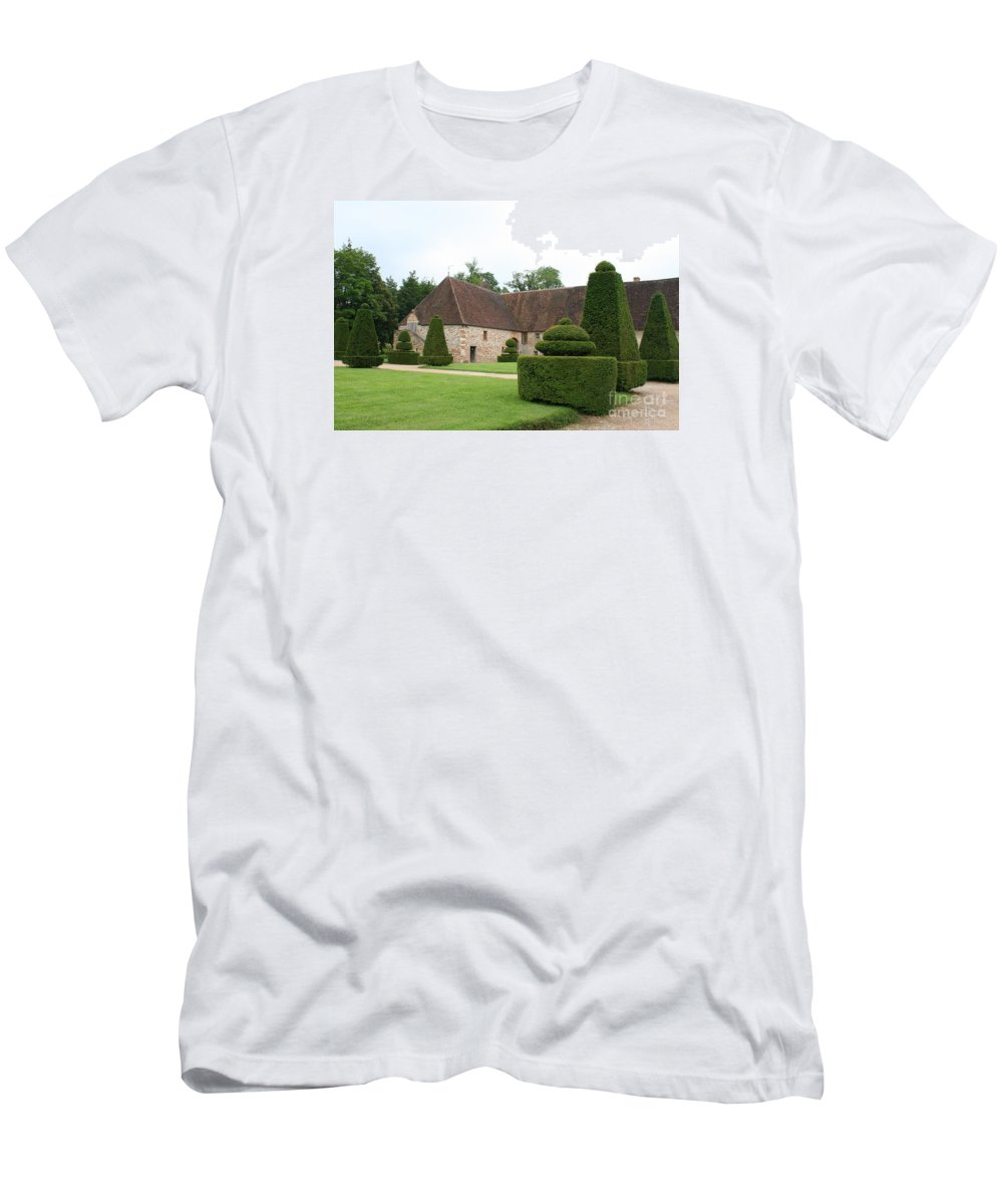 Stable Men's T-Shirt (Athletic Fit) featuring the photograph Chateau De Cormatin Stable by Christiane Schulze Art And Photography