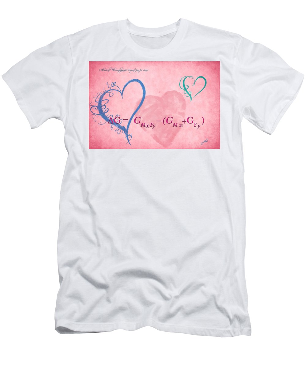 Feature Art Men's T-Shirt (Athletic Fit) featuring the digital art Chemical Thermodynamic Equation For Love 2 by Paulette B Wright