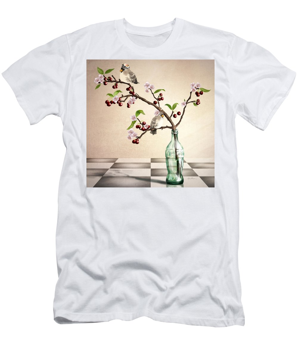 Cherry Coke Men's T-Shirt (Athletic Fit) featuring the digital art Cherry Coke by April Moen