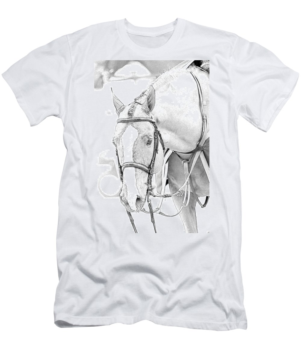 Horse Men's T-Shirt (Athletic Fit) featuring the photograph Chestnut by Alice Gipson