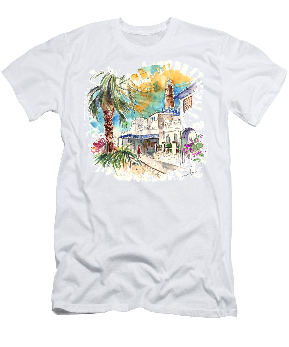 Travel Men's T-Shirt (Athletic Fit) featuring the painting Chipiona Spain 05 by Miki De Goodaboom