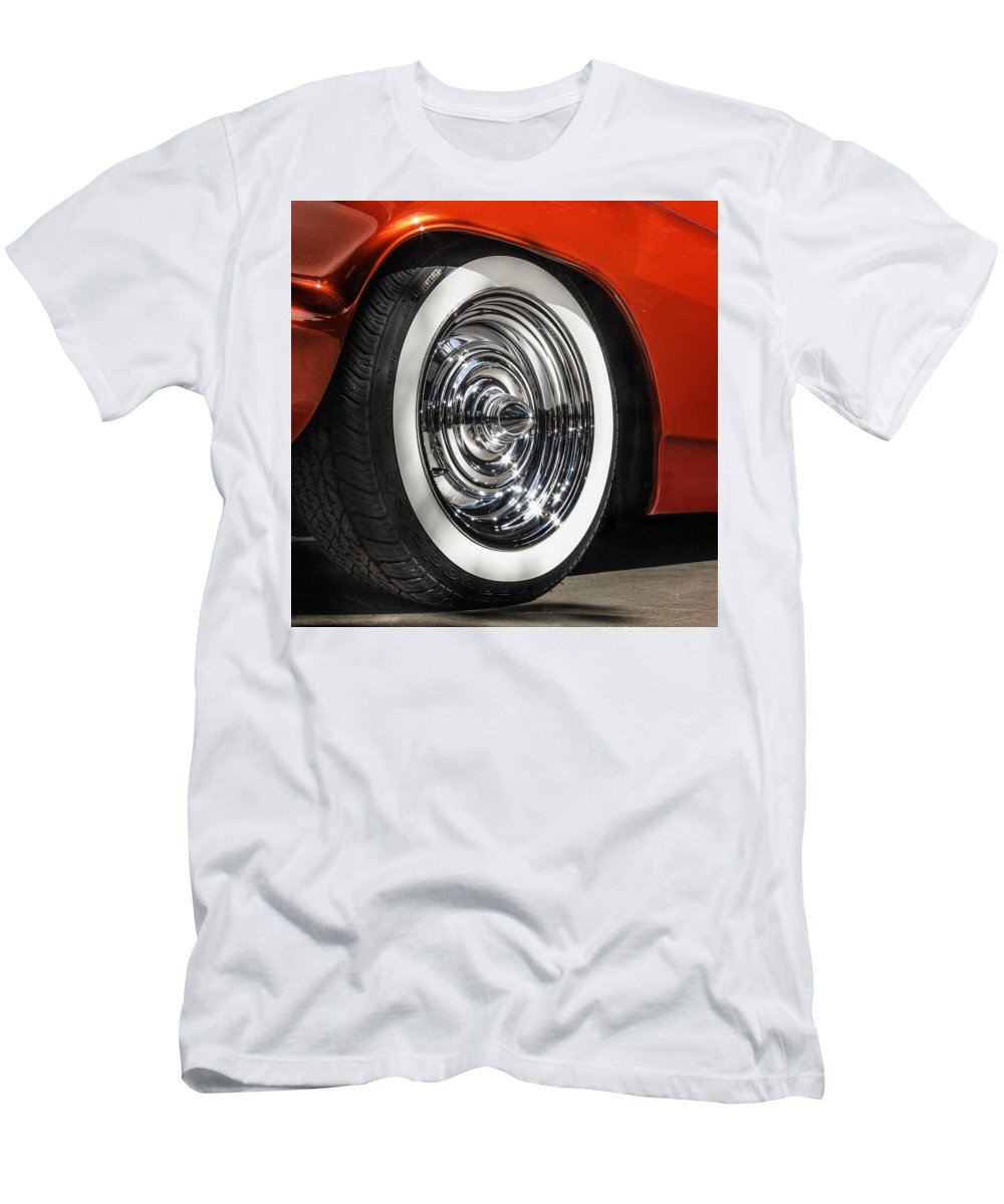 Sema Show Men's T-Shirt (Athletic Fit) featuring the photograph Chrome Bullets by Gary Warnimont